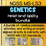 Life Science: Genetics Read and Apply BUNDLE NGSS MS-LS3 ALIGNED