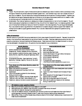 Genetics Research Proposal Project