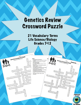 Genetics Review Crossword Puzzle