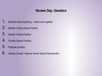 Genetics Review Powerpoint