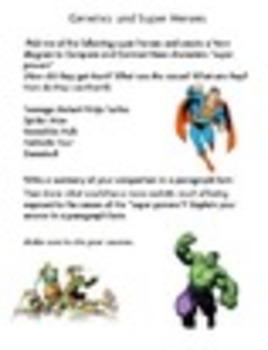 Genetics Super Hero Compare Contrast