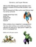 Genetics Super Hero Compare Contrast