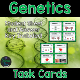 Genetics Task Cards - Distance Learning Compatible