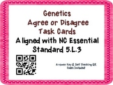 Genetics Task Cards {Agree/Disagree Statement} Common Core 5.L.3 {QR Codes}
