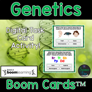 Genetics Task Cards - Digital Boom Cards