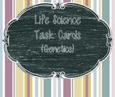 Genetics Task Cards (Genetics, Heredity, Punnett Squares)