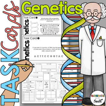 Genetics Task Cards for Review or Assessment