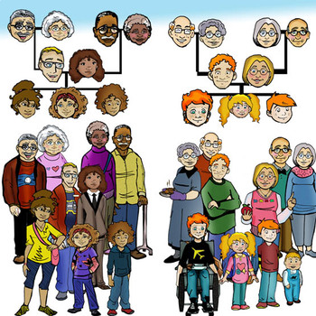 Genetics Traits and Family PEOPLE 163 Pc. Clip-Art Set! Great For NGSS!