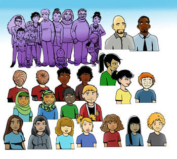 Genetics Traits and Variations PEOPLE 56 Pc. Clip-Art Set! Great For NGSS!