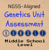 Genetics Unit Assessment Bundle (NGSS-Aligned)