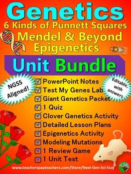 Genetics Unit Bundle - NGSS Aligned