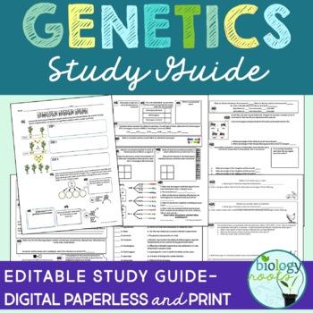 Genetics Study Guide By Biology Roots Teachers Pay Teachers