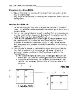 Genetics Unit Week 1, with Quiz 1