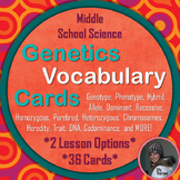 Genetics Vocabulary: Card Sorting Activity and Flashcards