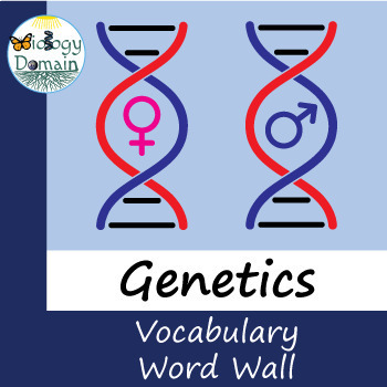 Genetics Word Wall Vocabulary Cards