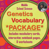 Genetics and Heredity Vocabulary PACKAGE