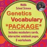 Genetics and Heredity Vocabulary BUNDLE