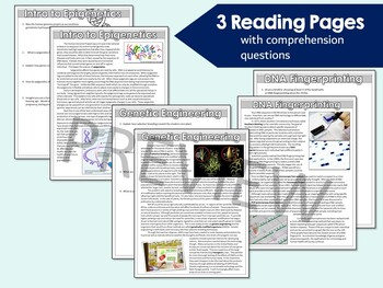 Biotechnology and Genetic Engineering Worksheets & Webquests