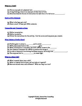 Genetics Webquest (University of Utah Simulation)