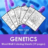 Genetics Word Wall Coloring Sheets (10 pages)