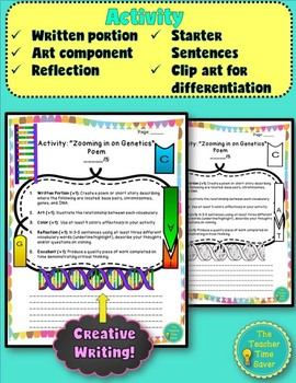 Genetics and DNA Life Science Printable Lesson