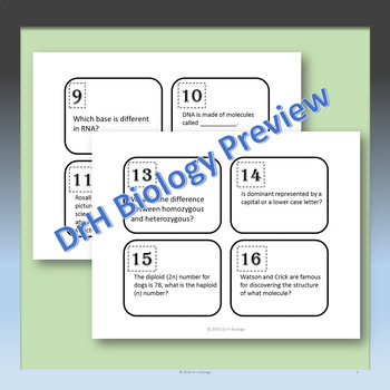 Genetics and DNA Task Cards