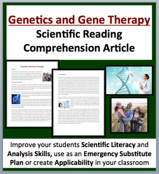 Genetics and Gene Therapy - A Science Reading Comprehension