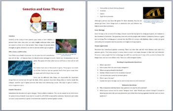 Genetics and Gene Therapy - Science Reading Article - Grades 5-7
