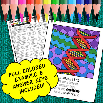 Genetics and Heredity - Color By Number