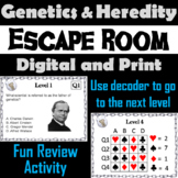 Genetics and Heredity Activity: Biology Escape Room Science