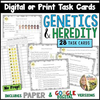Genetics Task Cards Digital