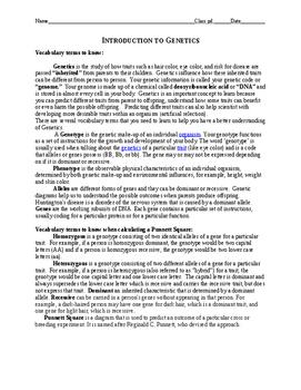 Genetics and Heredity Unit