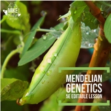 Genetics and Mendel:  A 5E Editable Lesson