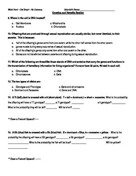 Genetics and Weather Review Quiz