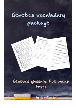 Genetics vocabulary package