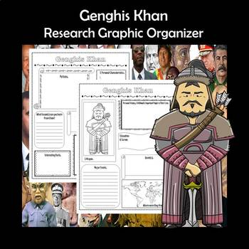 Genghis Khan Biography Research Graphic Organizer