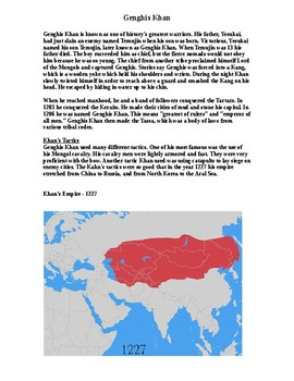 Genghis Khan Document Handout