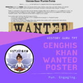 Genghis Khan Wanted Poster