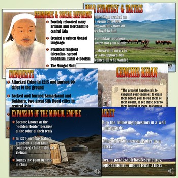 Genghis Khan and the Mongol Empire PowerPoint Lesson