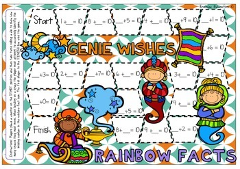 Genie Wishes Rainbow Fact Board Game
