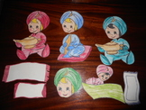 Genies on Flying Carpets & Genies w/ Aladdin Lamps and Flute for Bulletin Boards