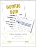 Genius Bar Real World Poetry & Figurative Language Analysis Station {editable}