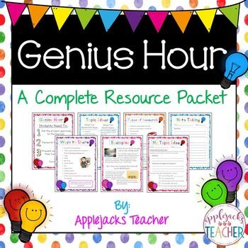 genius hour a complete resource packet by applejacks teacher tpt. Black Bedroom Furniture Sets. Home Design Ideas
