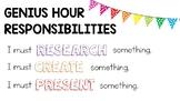 Genius Hour Anchor Chart