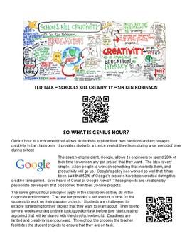 Genius Hour Assignment Outline