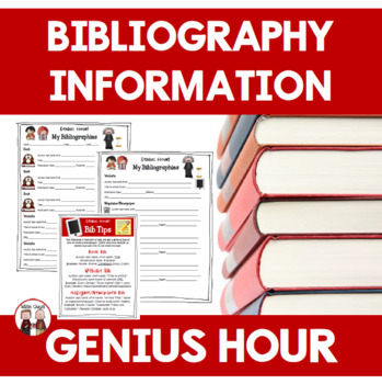 genius hour bibliography resource by wise guys tpt. Black Bedroom Furniture Sets. Home Design Ideas