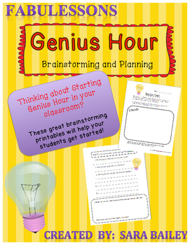 Genius Hour Brainstorming