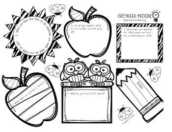 Genius Hour Brainstorming Activity