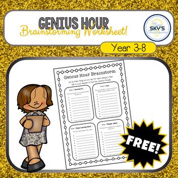 Genius Hour - Brainstorming Worksheet
