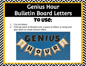 Genius Hour Bulletin Board Letters